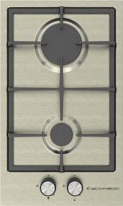 Ecomatic Gas Built-In Hob, 2 Burners, Inox- S313C