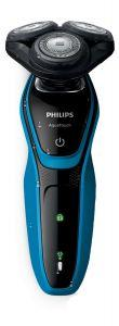 Philips Electric Wet and Dry Shaver, Black/ Blue - S5050
