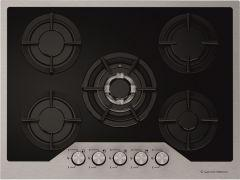 Ecomatic Crystal Gas Built-In Hob, 5 Burners, Black- S707IGC