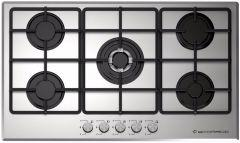 Ecomatic Gas Built-In Hob, 5 Burners, Stainless Steel- S9003M