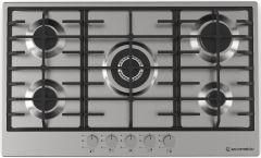 Ecomatic Gas Built-In Hob, 5 Burners, Stainless Steel - S903C