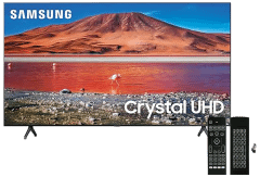 Samsung 50 Inch 4K Crystal UHD Smart LED TV - UA50TU7000UXEG with Magic Remote