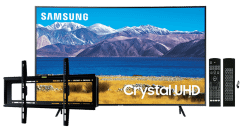 Samsung 55 Inch 4K Crystal UHD Smart Curved LED TV - UA55TU8300FXZA with Magic Remote and Wall Mount