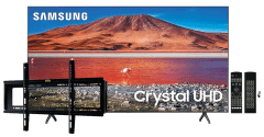 Samsung 65 Inch 4K Crystal UHD Smart LED TV - 65TU7000FXZA with Magic Remote and Wall Mount