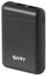 Sary Power Bank 10000mAh, 2 USB Ports, Black - S100