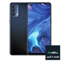 Oppo Reno4 Dual Sim, 128GB, 4G LTE - Space Black With 3 months Shahid Subscription