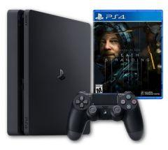 Sony PlayStation 4 Slim, 1TB, 1 Controller with Death Stranding Game