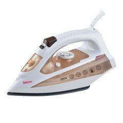 Saturn Steam Iron, 2000 Watt, White/Beige - STCC0221