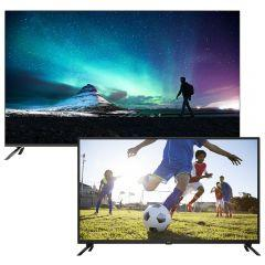 Syinix 58 Inch 4K Ultra HD Frameless Smart LED TV with Built-in Receiver - 58A1S, with I-Cast 32 Inch HD LED TV, Built-in Receiver - 32E1m