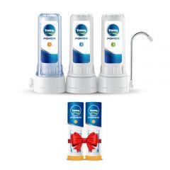 Tank Power Water Filter, 3 Stages - with 2 Power1 Candles