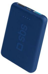 SBS Pocket Power Bank, 5000mAh, 2 Ports - Blue