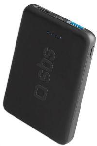 SBS Pocket Power Bank, 5000mAh, 2 Ports - Black