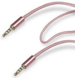 SBS Audio Stereo AUX Cable, 1 Meter, Pink - TECABLE35PINK