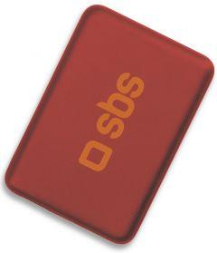 SBS Compact Power Bank, 4000mAh, 1 Port - Red