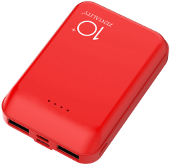Zentality Power Bank, 10000mAh, 2 Ports, Red - P004-RD