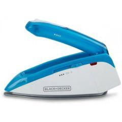Black + Decker Travel Iron, 1085 Watt, Blue/White - TI250