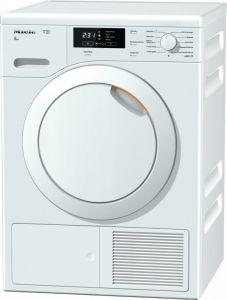Miele Front Loading Tumble Dryer, 8 KG, White - TKB 340 WP