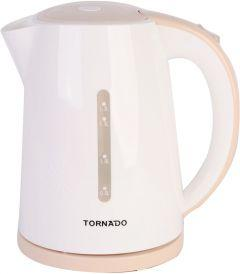 Tornado Electric Kettle, 1.7 Liter, 2200 Watt, White - TKP- 2117