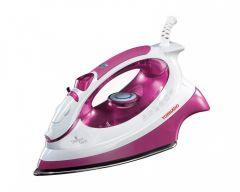 Tornado Steam Iron, Teflon Non-Stick Plate, 2000 Watt, Purple/White- TA-2000S