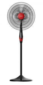 Tornado Stand Fan without Remote Control, 18 Inch, Red/Black - TSF-18XW
