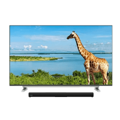 Toshiba 65 Inch Frameless UHD Smart LED TV with Bluetooth Sound Bar