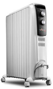 Delonghi Oil Heater, 10 Fins, 2500 Watt, White - TRD4 1025