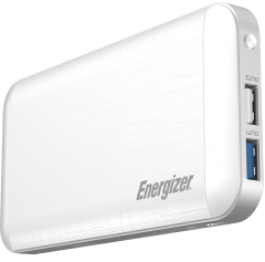 Energizer Power Bank, 10000mAh, 3 Ports, White - UE10030MP