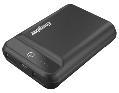 Energizer Power Bank, 10000mAh, 2 Ports, Black - UE10032