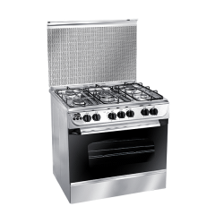 Unionaire Gas Cooker With Grill, 5 Burners, Silver - C6080SV-AC-186-F