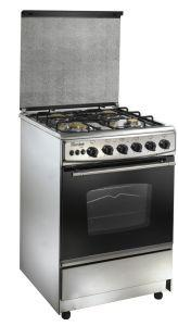 Unionaire 4 Burners Gas Cooker, Stainless Steel, 60 cm - C6060GC447N13H7F