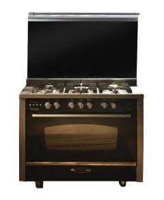 UnionTech Freestanding i-Cook Gas Cooker, 5 Burners, Stainless Steel, 90 cm - C6090SS-2GC-511-IDSP