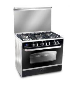 Unionaire i-Cook Smart Gas Cooker, 5 Burners, Stainless Steel, 90 cm - C6090SS-DC-511-IDSC-S
