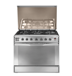 Universal Elegant 5 Burners Snainless Steel Gas Cooker - 9605T