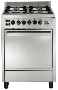 Universal Professional Gas Cooker 4 Burners, Stainless Steel, 60 cm - 6604PR