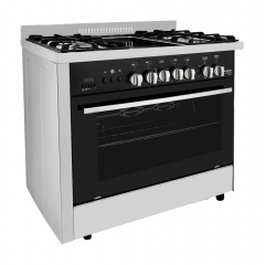 Fresh Professional Grillo Gas Cooker, 5 Burners, Stainless Steel - 60*90
