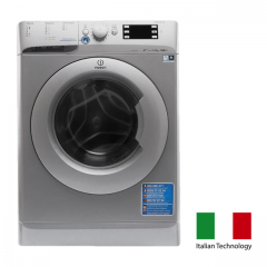 Indesit Front Loading Digital Washing Machine, 9 KG, Silver - XWE 91483X S EU