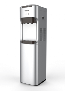 Fresh Water Dispenser, 3 Taps,  Silver - FW-16BRSH - with Cup Holder