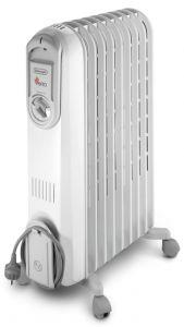 Delonghi Vento Oil Heater, 9 Fins, 2000 Watt, White - V550920