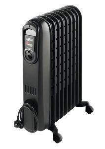 Delonghi Vento Oil Heater, 9 Fins, 2000 Watt, Black - V550920B