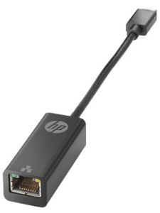HP USB Type-C to RJ45 Adapter, Black - V8Y76AA