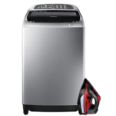 Samsung Top Load Automatic Washing Machine, 16 KG- WA16J6730SS, With ULTRA Steam Iron, 2800 Watt- UIR28HRK