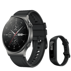 Huawei Watch GT 2 Pro, Night Black - Sport Edition with Band 3e, Black - AW70-B29