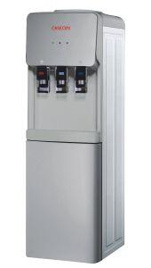 Caseoni Hot, Cold, and Normal Water Dispenser with Refrigerator- Gray