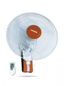 Arion Boeing Wall Fan with Remote Control, 18 Inch, Brown - WF-1804