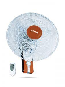 Arion Boeing Wall Fan with Remote Control, 18 Inch, Brown - WF-1804RC