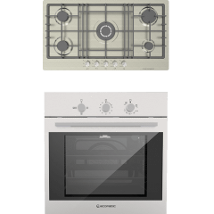 Ecomatic Built-In Set Of Gas Hob, 5 Burners- S943XL5C, And Gas Oven With Grill, 64 Liters- G6414T
