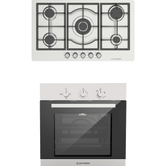 Ecomatic Built-In Set Of  Gas Hob, 5 Burners- S973C, And Gas Oven With Grill, 64 Liters- G6404T