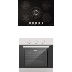 Ecomatic Built-In Set Of Gas Hob, 5 Burners- S707ALC, And Gas Oven With Grill, 64 Liters- G6404T