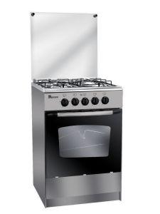 Unionaire Gas Cooker, 4 Burners - Silver