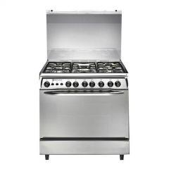 White Point Freestanding Gas Cooker, 5 Burners, Stainless Steel, 80 cm - WPGC 8060 XA